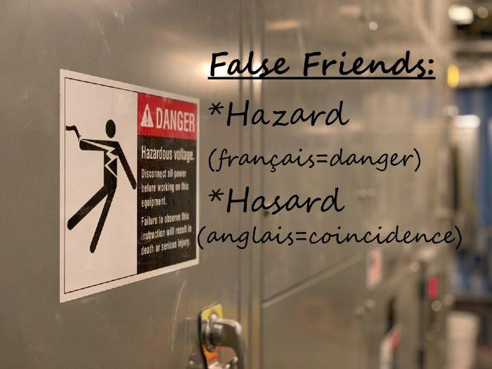 Cours d'anglais sur les False Friends ou en français les faux-amis
