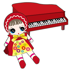 ピアノと人形