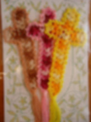 十字架レース栞3本セット