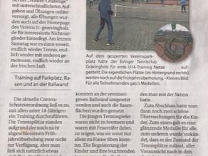 und schon wieder in der Zeitung :)