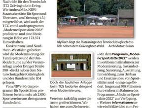 Nordanzeiger berichtet über unseren Förderbescheid (12. Mai und 15. Mai)