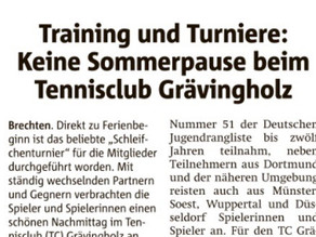 Die Ruhr Nachrichten berichten über den Grävingholzer Sommer