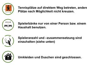 Aktuelle Corona Regeln im TC Grävingholz