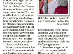 Die Ruhr Nachrichten und der Nordanzeiger berichten über den Saisonstart