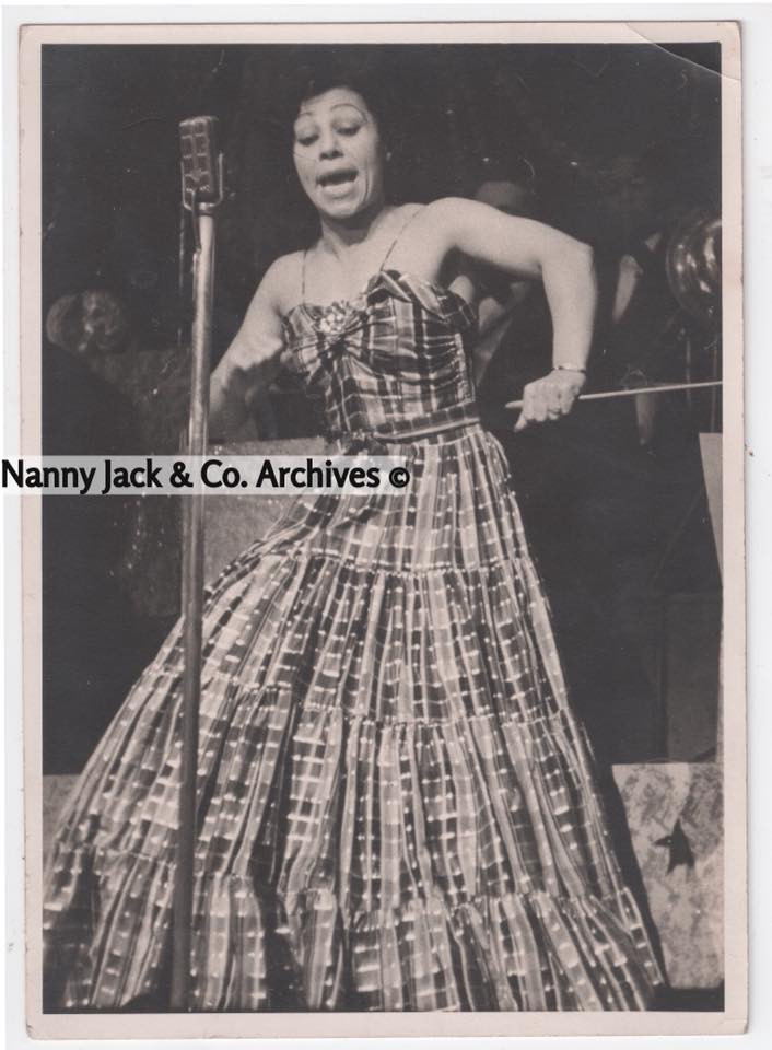 Blanche Calloway performing.