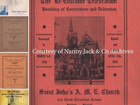 Souvenir African American Church Programs