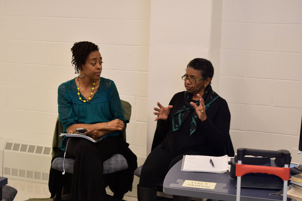 PROFESSOR NWENNA GATES (LEFT) AND BETTY L. MERRILL (RIGHT). PHOTO COURTESY OF NANNY JACK & CO.