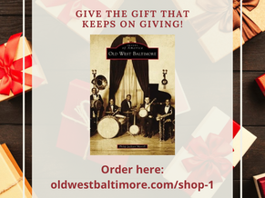 🎁 PERFECT HOLIDAY GIFT 🎁 Order Old West Baltimore Book!