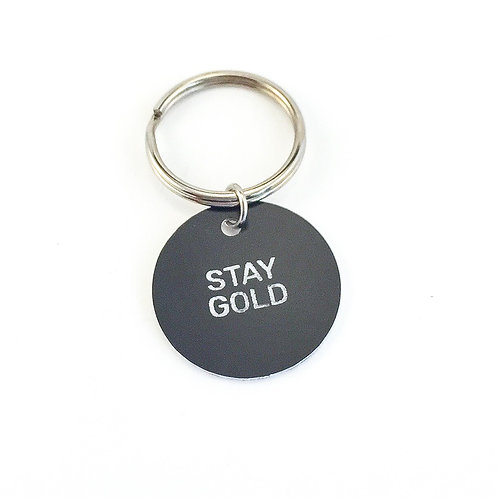 Stay Gold Keychain