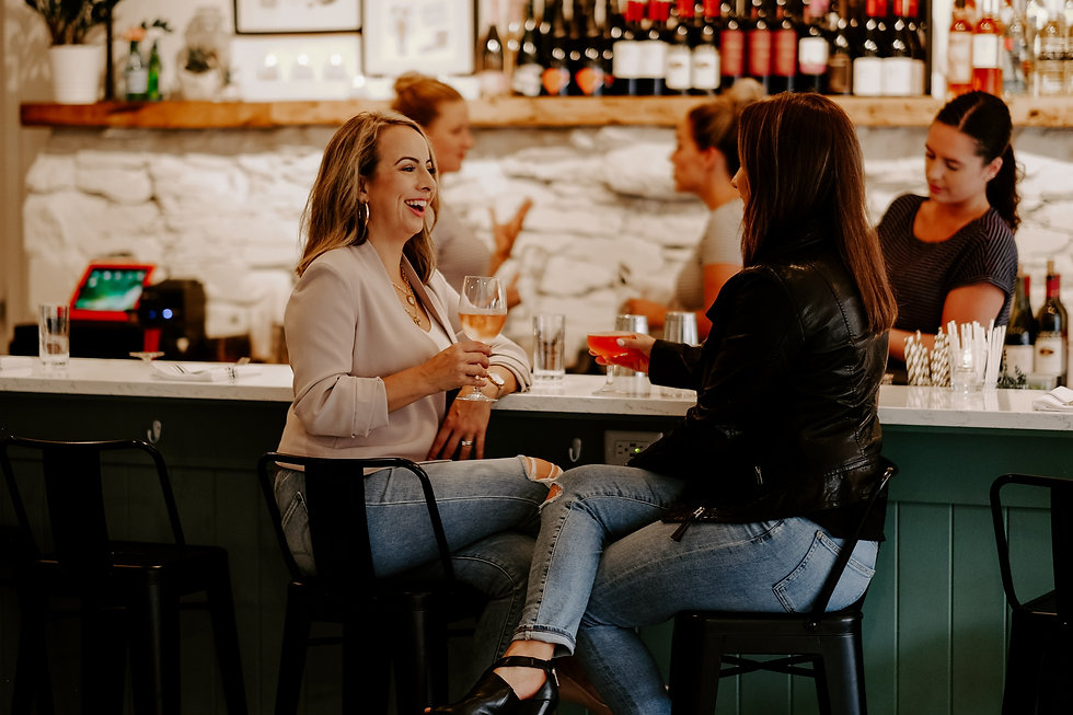 Stacey & Britney enjoy a drink at one of their favourite local spots