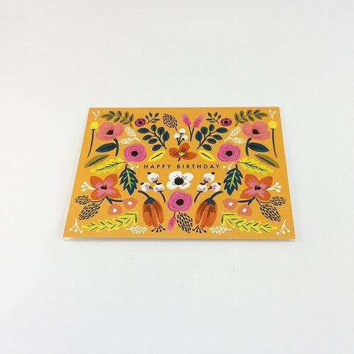 Folk Birthday card