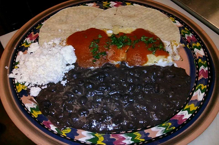 MEXICAN  BREAKFAST Two fried eggs with s