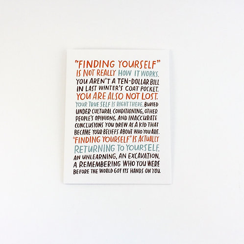 """""""Finding Yourself"""" Card"""