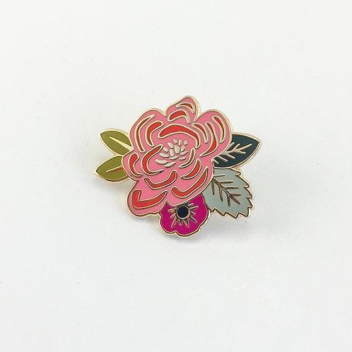 Floral Enamel Pin