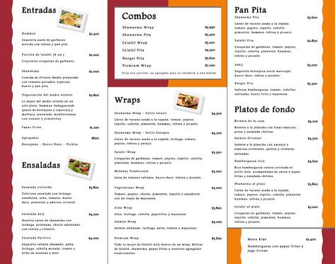 menu falafel