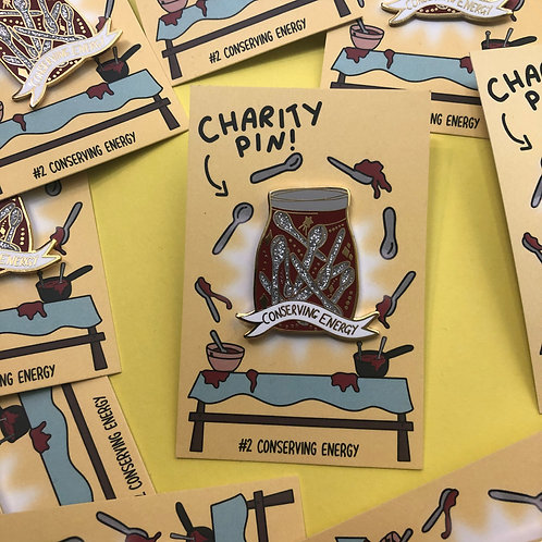 Conserving Energy fundraising pin