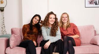 Evaluna, Josephine en Eline va CaffeInk en SpaacCS. Foto ©vdwvm.