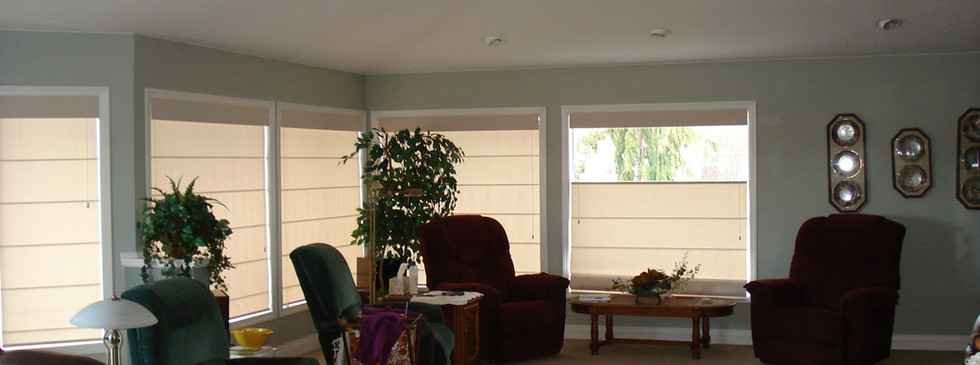 Beautiful Blinds Beige Roman Shades