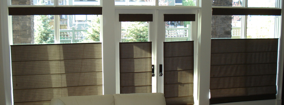 Beautiful Blinds Brown Roman Shades