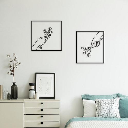 תמונות של ידיים עם פרחים בחדר שינה