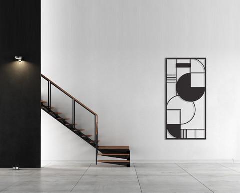 עבודה גאומטרית ממתכת לקיר
