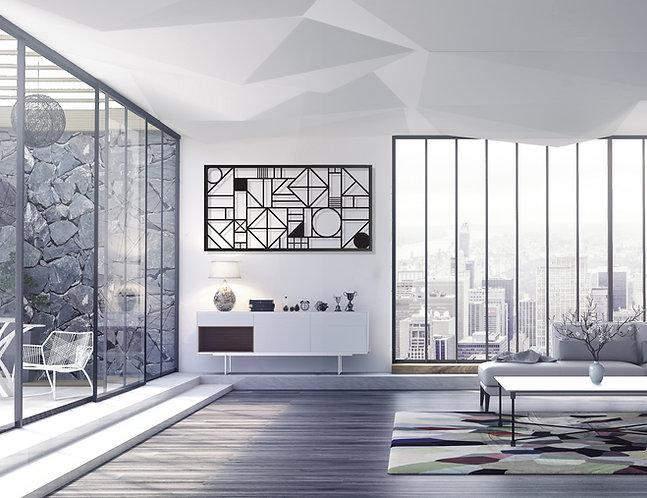 תמונה גאומטרית מודרנית לקיר | יצירות אמנות לקיר