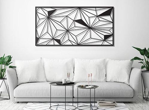 פרחים גאומטרים א-סימטריים | קיר ותמונות | WALL - ART