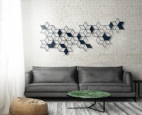 תמונת קיוב סטאר גאומטרית לקיר   יצירות אמנות לקיר