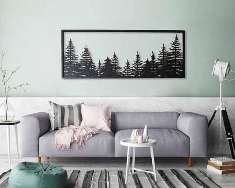 תמונת יער בשתי שכבות | יצירות אמנות לקיר