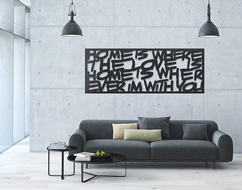 HOME IS WHERE THE LOVE IS | wall art XL