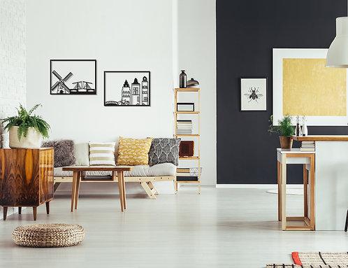 אינטרפטציה של העיר אמסטרדם במתכת | אמנות לקיר