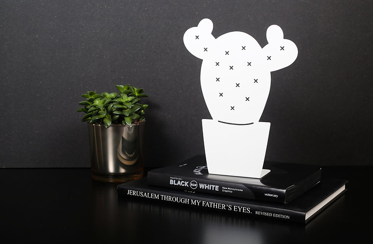 CACTUS STAND | white/gold