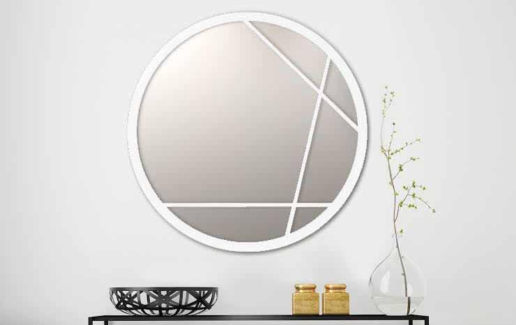 מראות | מראת ליאת מממתכת בעיצוב מנימליסטי בצבע לבן