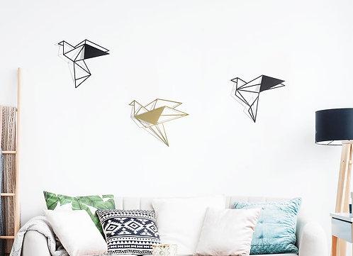 Black & Gold combination of 3D birds | wall art