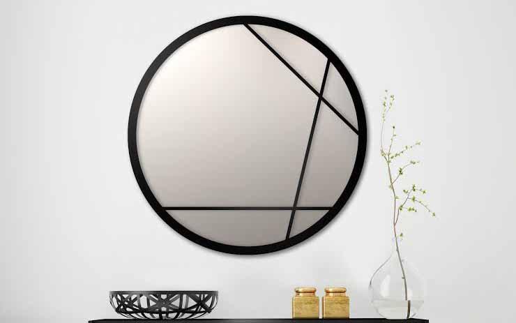 מראות | מראת  ליאת ממתכת בעיצוב מנימליסטי בצבע שחור