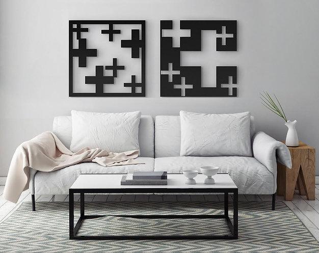 Plus metal | עיצוב הבית | אמנות קיר | WALL ART