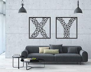 עבודות אומנות לקיר X Y