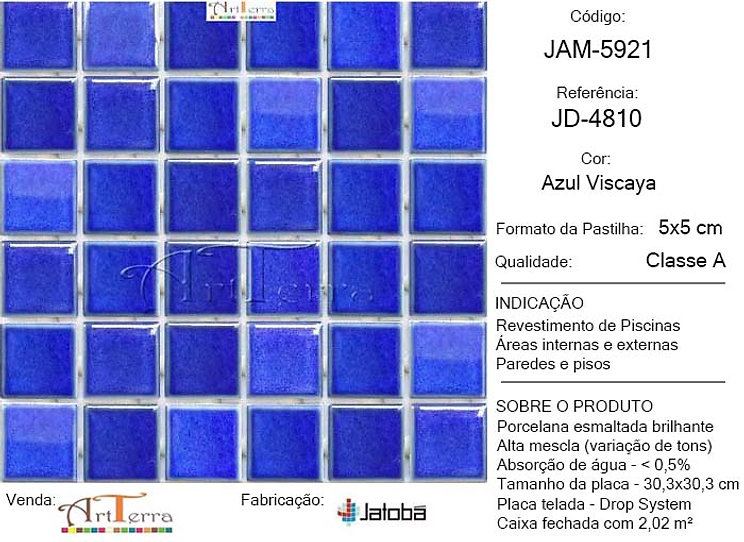 JD-4810 AZUL VISCAYA 5x5