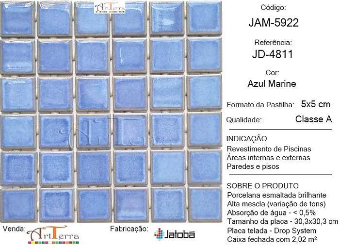 JD-4811 AZUL MARINE 5x5