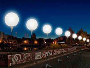 O muro da Luz de Berlim