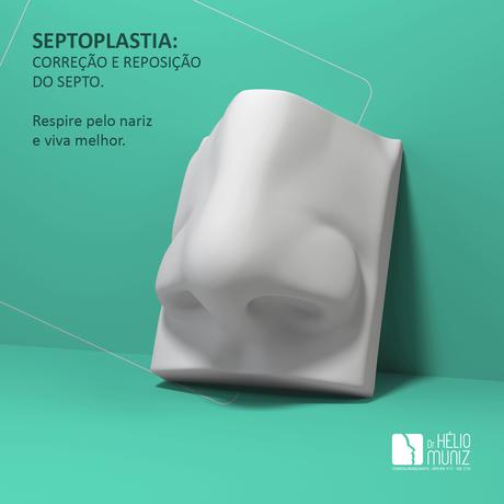 Septoplastia: correção e reposição do septo