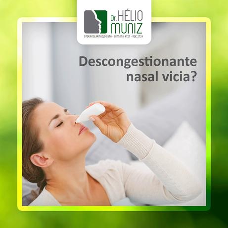 Descongestionante nasal vicia?