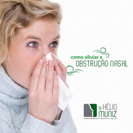 Como aliviar a obstrução nasal