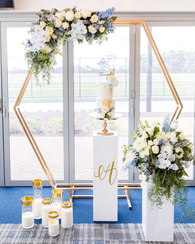 Gold Trim Candle Hire