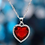 Beautiful Red Heart Pendant With Chain