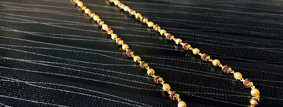 Daily Wear Gold Plated Rudraksh Chain