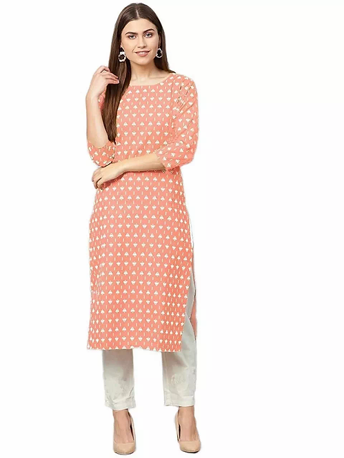 Latest Digital Printed Silk Calf Length Kurti