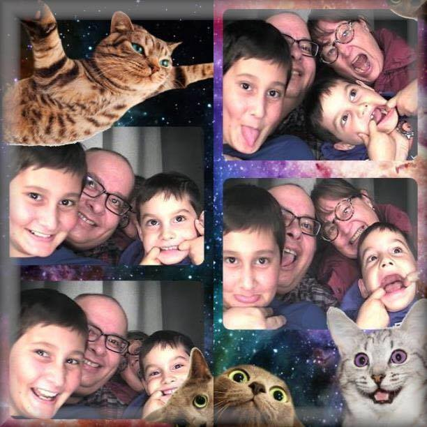 family and cats
