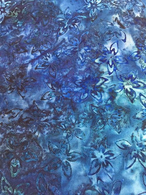 Floral Batik Blue