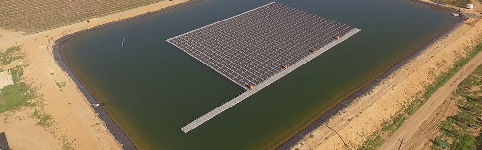 Floating solar project using RenewSys PV Modules, South Africa